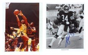 Autographed Photos (2), Sports: Wilt Chamberlain, Los