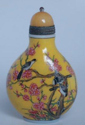 A Chinese Peking Glass Snuff Bottle