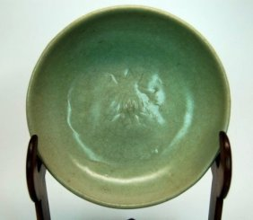 Chinese Celadon Glazed Plate, Ming Dynasty