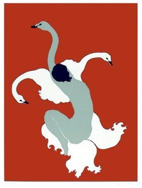 Daphne Mumford, Three Wild Swans, Serigraph