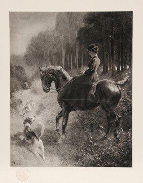 Woman On Horse, Photogravure