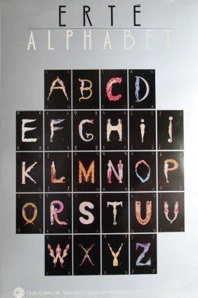 Erte, Alphabet Suite, Poster