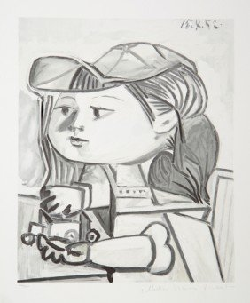 Pablo Picasso, Buste De Petite Fille, Lithograph