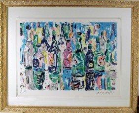 Amos Yaskil, Bottles, Lithograph