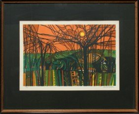Garrick Palmer, Wooded Landscape, Lithograph