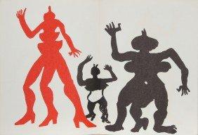 Alexander Calder, Three Acrobats, Lithograph