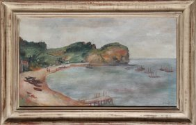 Bernard Karfoil, Cove, Oil Painting