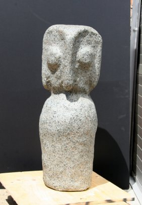 Modern Owl, Granite Sculpture