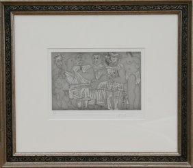 Pablo Picasso, Baigneuse Et Putto Flutiste, Aquatin