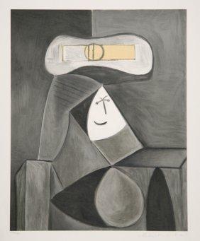 Pablo Picasso, Femme Au Chapeau Gris, Lithograph