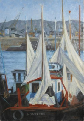 Laurent Marcel Salinas, Honfleur (819), Oil Painti