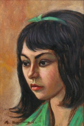 Raul Anguiano, Portrait, Oil Painting