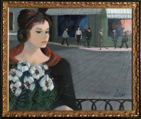 Charles Levier, La Rue, Oil Painting