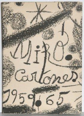 Joan Miro, Cartones, Book With 9 Lithographs