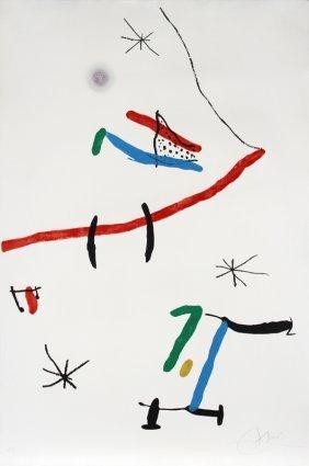 Joan Miro, Barcelona (603), Aquatint Etching And C