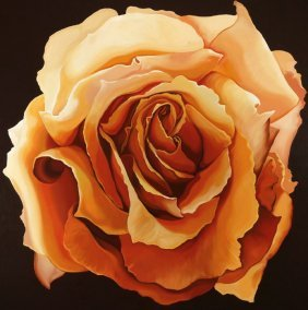 Lowell Blair Nesbitt, Yellow Rose, Oil Painting