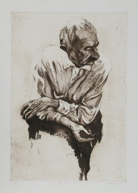 Harry McCormick, Concentration, Etching