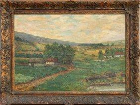 Bohuslav Dvorak, Landscape, Oil Painting