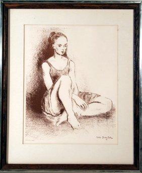 Moses Soyer, Ballet Dancer, Lithograph