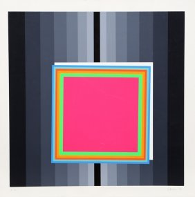 Eugenio Carmi, Square, Silkscreen