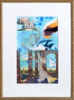 Glenn Thomas, Ice Blue Dream, Mixed Media Collage