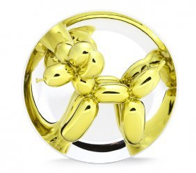 Jeff Koons, Balloon Dog (yellow) Porcelain Sculpture