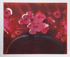 Peter Max, Marilyn's Flowers Ii, Lithograph