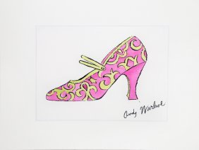 Andy Warhol, Pink Shoe From A La Recherche Du Shoe
