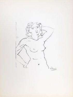 Andre Derain, Buste De Femme, Lithograph