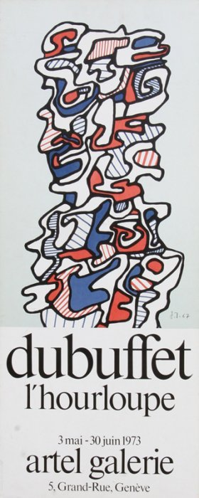 Jean Dubuffet, L'hourloupe At Artel Galerie, Lithograph