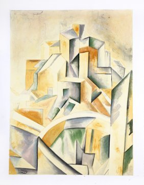 Pablo Picasso, Cubist Abstract, Lithograph Poster