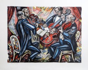 Irving Amen, String Quartet, Lithograph