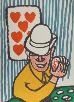 Alexander Calder, Seven Of Hearts, Lithograph
