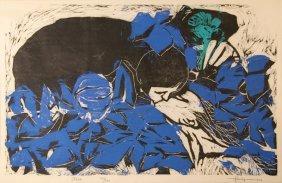 Rudolpho Perez, Kiss, Woodcut
