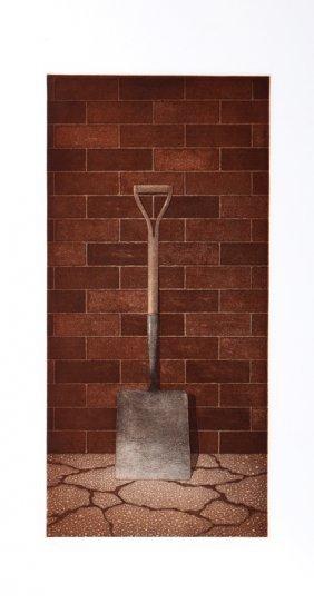 Terence Millington, The Shovel, Mezzotint
