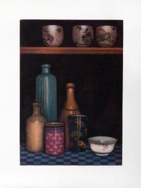Olivia Munroe, Three Cups, Mezzotint