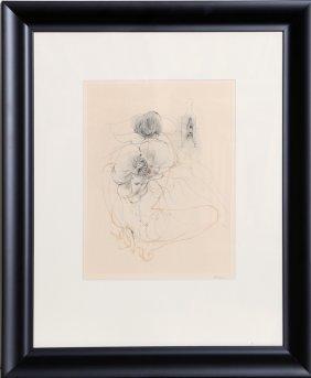 Hans Bellmer, Untitled - Nude In Heels, Etching