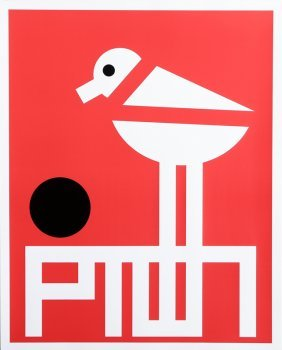 Tim Convery, Piping Plover, Silkscreen Poster