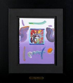 Peter Max, Liberty Head (purple), Mixed Media Acrylic