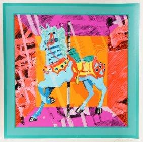 Bob Pardo, Carousel Horse, Serigraph