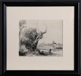 Rembrandt Van Rijn, Vue D'omval Pres D'amsterdam