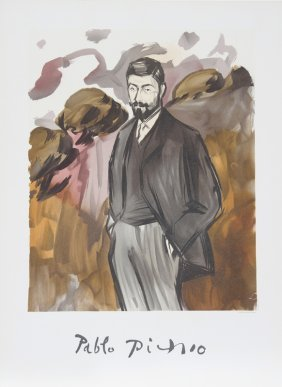 Pablo Picasso, Portrait D'un Homme Debout Avec