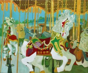 Russ Elliott, Carousel, Oil Painting