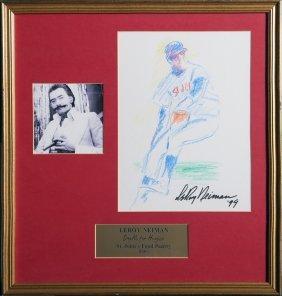 Leroy Neiman, St. Louis Cardinals Baseball Player,