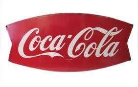 Coca-cola Fishtail Porcelain Sign