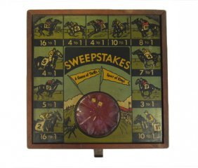 1930's Sweepstakes Dice Gambling Table-top Game