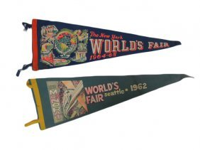 New York And Seattle World's Fair Pendants
