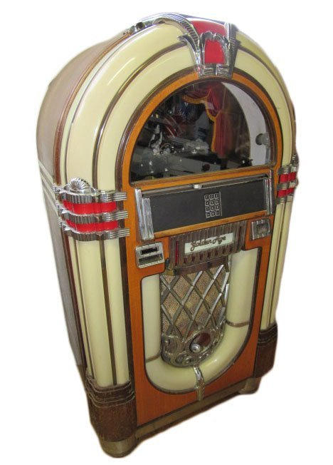 reproduction golden age wurlitzer 1015 jukebox lot 143. Black Bedroom Furniture Sets. Home Design Ideas