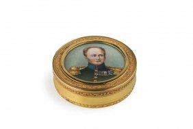Tabacchiera In Oro Con Miniatura Di Alessandro I, San