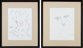 Jean Cocteau (1889-1963) French (two)
